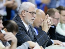 LEXINGTON, KY - FEBRUARY 28: Phil Jackson the  President of the New York Knicks watches the Kentucky Wildcats game against the Arkansas Razorbacks at Rupp Arena on February 28, 2015 in Lexington, Kentucky.  (Photo by Andy Lyons/Getty Images)