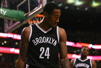 BOSTON, MA - NOVEMBER 20:  Rondae Hollis-Jefferson #24 of the Brooklyn Nets reacts after a foul is called against him during the second half at TD Garden on November 20, 2015 in Boston, Massachusetts. NOTE TO USER: User expressly acknowledges and agrees that, by downloading and/or using this photograph, user is consenting to the terms and conditions of the Getty Images License Agreement.  (Photo by Maddie Meyer/Getty Images)