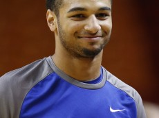 MIAMI, FL - NOVEMBER 27: Jamal Murray #23 of the Kentucky Wildcats warms up prior to the game against the South Florida Bulls on November 27, 2015 at the American Airlines Arena in Miami, Florida. Kentucky defeated South Florida 84-63. (Photo by Joel Auerbach/Getty Images)