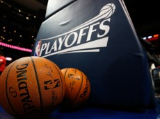 ATLANTA, GA - APRIL 19:  A general view of the balls used for warmups prior to Game One of the Eastern Conference Quarterfinals of the NBA Playoffs between the Atlanta Hawks and the Brooklyn Nets at Philips Arena on April 19, 2015 in Atlanta, Georgia.  NOTE TO USER: User expressly acknowledges and agrees that, by downloading and/or using this photograph, user is consenting to the terms and conditions of the Getty Images License Agreement.  (Photo by Kevin C. Cox/Getty Images)