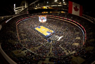 PHILADELPHIA, PA - OCTOBER 30: A general view of the Wells Fargo Center during the opening night game between the Miami Heat and Philadelphia 76ers on October 30, 2013 at the Wells Fargo Center in Philadelphia, Pennsylvania. NOTE TO USER: User expressly acknowledges and agrees that, by downloading and or using this photograph, User is consenting to the terms and conditions of the Getty Image License Agreement. (Photo by Mitchell Leff/Getty Images)