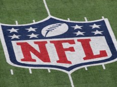 EAST RUTHERFORD, NJ - JANUARY 08:  A detail of the official National Football League NFL logo is seen painted on the turf as the New York Giants host the Atlanta Falcons during their NFC Wild Card Playoff game at MetLife Stadium on January 8, 2012 in East Rutherford, New Jersey.  (Photo by Nick Laham/Getty Images)