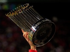 BOSTON, MA - OCTOBER 30: The World Series trophy is seen following Game Six of the 2013 World Series at Fenway Park on October 30, 2013 in Boston, Massachusetts. The Boston Red Sox defeated the St. Louis Cardinals 6-1. (Photo by Jamie Squire/Getty Images)