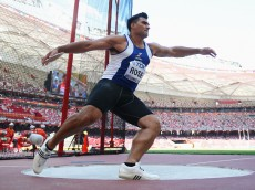 BEIJING, CHINA - AUGUST 27:  Alex Rose of Samoa competes in the Men's Discus qualification during day six of the 15th IAAF World Athletics Championships Beijing 2015 at Beijing National Stadium on August 27, 2015 in Beijing, China.  (Photo by Michael Steele/Getty Images)