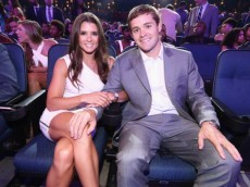 LOS ANGELES, CA - JULY 16:  NASCAR drivers Danica Patrick (L) and Ricky Stenhouse Jr. attend The 2014 ESPYS at Nokia Theatre L.A. Live on July 16, 2014 in Los Angeles, California.  (Photo by Christopher Polk/Getty Images For ESPYS)