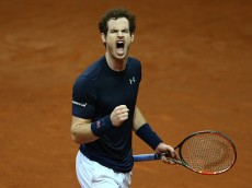 GHENT, BELGIUM - NOVEMBER 27:  Andy Murray of Great Britain celebrates during the singles match against  Ruben Bemelmens of Belgium on day one of the Davis Cup Final 2015 at Flanders Expo on November 27, 2015 in Ghent, Belgium.  (Photo by Clive Brunskill/Getty Images)