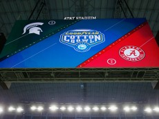 leading up to the Goodyear Cotton Bowl between the Alabama Crimson Tide and the Michigan State Spartans at AT&T Stadium on December 30, 2015 in Arlington, Texas.
