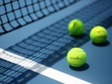 MELBOURNE, AUSTRALIA - JANUARY 11:  Australian Open branded tennis balls are seen on court ahead of the 2015 Australian Open at Melbourne Park on January 11, 2015 in Melbourne, Australia.  (Photo by Graham Denholm/Getty Images)