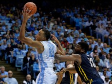CHAPEL HILL, NC - DECEMBER 28:  Brice Johnson #11 of the North Carolina Tar Heels against the UNC-Greensboro Spartans during their game at the Dean Smith Center on December 28, 2015 in Chapel Hill, North Carolina. North Carolina won 96-63.  (Photo by Grant Halverson/Getty Images)