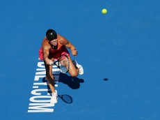 during day one of the 2016 Sydney International at Sydney Olympic Park Tennis Centre on January 10, 2016 in Sydney, Australia.