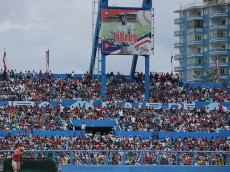 HAVANA, CUBA - MARCH 22:  The Estadio Latinoamericano is filled with people watching an exposition game between the Cuban national baseball team and Major League Baseball's Tampa Bay Devil Rays at the Estado Latinoamericano March 22, 2016 in Havana, Cuba. U.S. President Barack Obama and Cuban President Raul Castro attended the game.  (Photo by Chip Somodevilla/Getty Images)