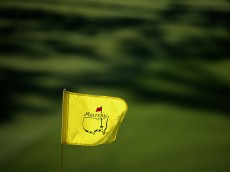 AUGUSTA, GEORGIA - APRIL 07:  A pin flag is displayed during the first round of the 2016 Masters Tournament at Augusta National Golf Club on April 7, 2016 in Augusta, Georgia.  (Photo by Andrew Redington/Getty Images)