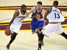 in Game 4 of the 2016 NBA Finals at Quicken Loans Arena on June 10, 2016 in Cleveland, Ohio. NOTE TO USER: User expressly acknowledges and agrees that, by downloading and or using this photograph, User is consenting to the terms and conditions of the Getty Images License Agreement.