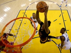 in Game 5 of the 2016 NBA Finals at ORACLE Arena on June 13, 2016 in Oakland, California. NOTE TO USER: User expressly acknowledges and agrees that, by downloading and or using this photograph, User is consenting to the terms and conditions of the Getty Images License Agreement.