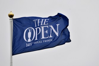TROON, SCOTLAND - JULY 11:  Detail of a flag during previews ahead of the 145th Open Championship at Royal Troon on July 11, 2016 in Troon, Scotland.  (Photo by Stuart Franklin/Getty Images)