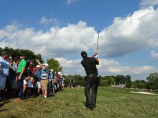during the second round of the 2016 PGA Championship at Baltusrol Golf Club on July 29, 2016 in Springfield, New Jersey.