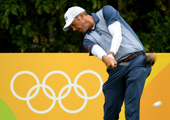 during a practice round at Olympic Golf Course on August 10, 2016 in Rio de Janeiro, Brazil.