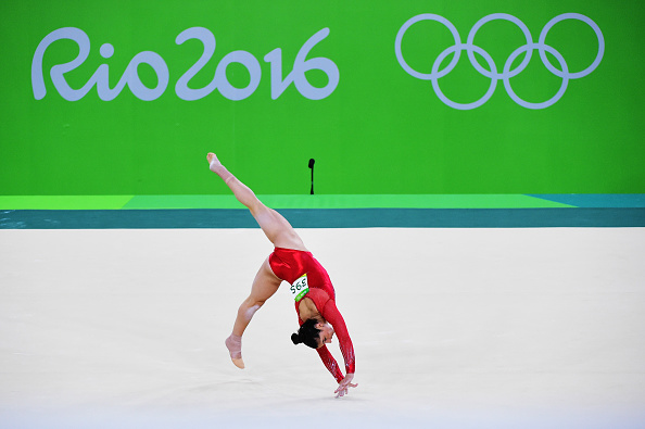 RIO DE JANEIRO, BRAZIL - AUGUST 11: Alexandra Raisman of the United States competes on the floor during the Women's Individual All Around Final on Day 6 of the 2016 Rio Olympics at Rio Olympic Arena on August 11, 2016 in Rio de Janeiro, Brazil. (Photo by Harry How/Getty Images)