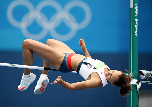 RIO DE JANEIRO, BRAZIL - AUGUST 12: Jessica Ennis-Hill of Great Britain competes in the Women's Heptathlon High Jump on Day 7 of the Rio 2016 Olympic Games at the Olympic Stadium on August 12, 2016 in Rio de Janeiro, Brazil. (Photo by Cameron Spencer/Getty Images)