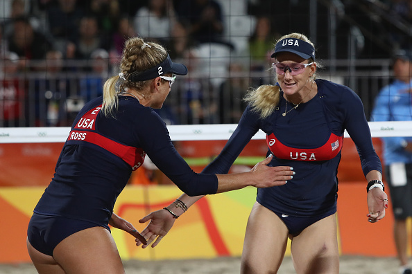 on Day 7 of the Rio 2016 Olympic Games at the Beach Volleyball Arena on August 12, 2016 in Rio de Janeiro, Brazil.