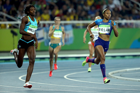 on Day 9 of the Rio 2016 Olympic Games at the Olympic Stadium on August 14, 2016 in Rio de Janeiro, Brazil.