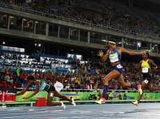 on Day 10 of the Rio 2016 Olympic Games at the Olympic Stadium on August 15, 2016 in Rio de Janeiro, Brazil.