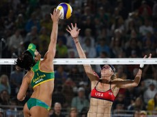 on Day 11 of the Rio 2016 Olympic Games at the Beach Volleyball Arena on August 16, 2016 in Rio de Janeiro, Brazil.