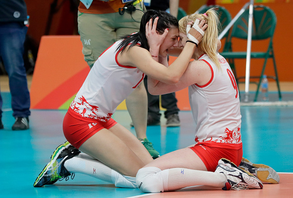 during the Volleyball xxx match between xxx and xxx at the Maracanazinho on Day 13 of the 2016 Rio Olympic Games on August 18, 2016 in Rio de Janeiro, Brazil.