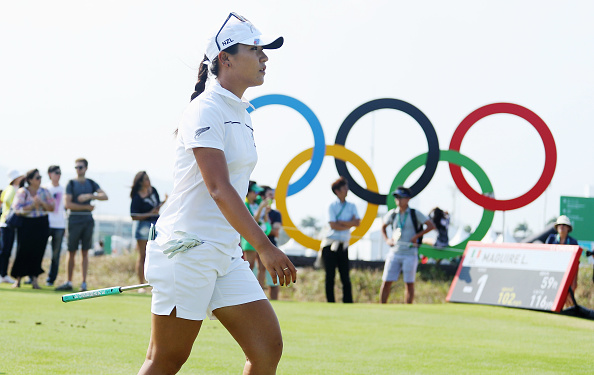 RIO DE JANEIRO, BRAZIL - AUGUST 19: Lydia Ko of New Zealand walks off the 17th tee during the third round of the Women's Individual Stroke Play golf on Day 14 of the Rio 2016 Olympic Games at Olympic Golf Course on August 19, 2016 in Rio de Janeiro, Brazil. (Photo by Scott Halleran/Getty Images)