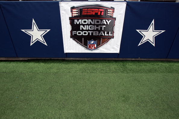 ARLINGTON, TX - SEPTEMBER 26: An ESPN Monday Night Football sign at Cowboys Stadium on September 26, 2011 in Arlington, Texas. (Photo by Ronald Martinez/Getty Images)