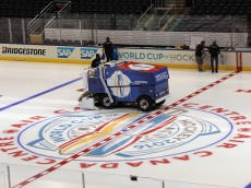 TORONTO, ON - SEPTEMBER 13:  An ice resurfacing machine prepares for the upcoming World Cup of Hockey tournament at the Air Canada Centre on September 13, 2016 in Toronto, Canada.  (Photo by Bruce Bennett/Getty Images)