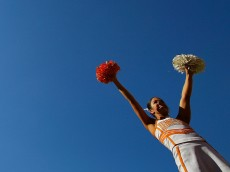 KNOXVILLE, TN - OCTOBER 15:  A Tennessee Volunteers cheerleader performs prior to the game against the Alabama Crimson Tide at Neyland Stadium on October 15, 2016 in Knoxville, Tennessee.  (Photo by Kevin C. Cox/Getty Images)