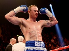 LONDON, ENGLAND - MARCH 09:  George Groves celebrates his victory over Dario Balmaceda during their International Super Middleweight bout at Wembley Arena on March 9, 2013 in London, England.  (Photo by Scott Heavey/Getty Images)