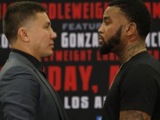 """Gennady """"GGG"""" Golovkin (34-0) vs Dominic Wade (18-0) NYC Press Conferense """"UNDEFEATED"""" World Middleweight Title  on 04/23/2016 at the Forum in Inglewood, CA Photo credit: WILL HART/ K2"""