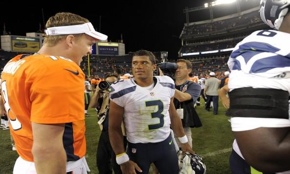 Russell Wilson,  Peyton Manning