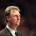 INDIANAPOLIS - JUNE 1:  Head coach Larry Bird of the Indiana Pacers looks on during the game against the New York Knicks at Market Square Arena on June 1, 1999 in Indianapolis, Indiana.  The Pacers won 88-86.  (Photo by Vincent Laforet/Getty Images)