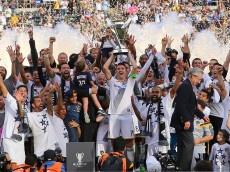 during 2014 MLS Cup at StubHub Center on December 7, 2014 in Los Angeles, California.