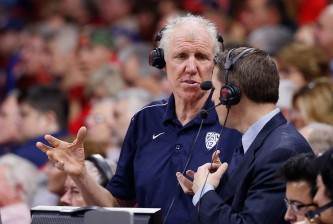 TUCSON, AZ - DECEMBER 09:  Retired basketball player and television sportscaster Bill Walton during the college basketball game between the Arizona Wildcats and the Utah Valley Wolverines at McKale Center on December 9, 2014 in Tucson, Arizona.  The Wildcats defeated the Wolverines 87-56.  (Photo by Christian Petersen/Getty Images)