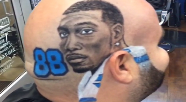 Cowboys Fan Gets Custom Dez Portrait Shaved In Head Dallas