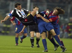 Alessandro Del Piero of Juventus and Carles Puyol of Barcelona