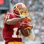 PHILADELPHIA, PA - SEPTEMBER 21:  DeSean Jackson #11 of the Washington Redskins reacts after catching a first-down pass in the first quarter against the Philadelphia Eagles at Lincoln Financial Field on September 21, 2014 in Philadelphia, Pennsylvania.  (Photo by Rob Carr/Getty Images)