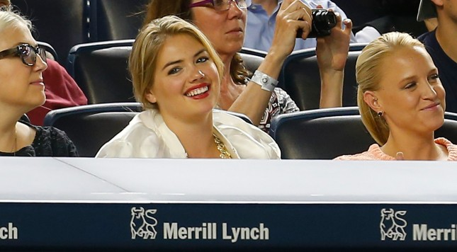 NEW YORK, NY - AUGUST 04:  Model Kate Upton attends the game between the New York Yankees and the Detroit Tigers at Yankee Stadium on August 4, 2014 in the Bronx borough of New York City.  (Photo by Mike Stobe/Getty Images)