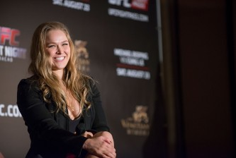 <>  during the Macao UFC Fight Night Press Conference at the Four Season Hotel on August 20, 2014 in Hong Kong.