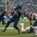 SEATTLE, WA - AUGUST 22:  Running back Marshawn Lynch #24 of the Seattle Seahawks rushes for a touchdown against strong safety Danny McCray #29 of the Chicago Bears at CenturyLink Field on August 22, 2014 in Seattle, Washington.  (Photo by Otto Greule Jr/Getty Images)