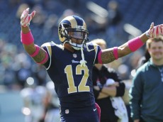 PHILADELPHIA, PA - OCTOBER 5: Wide receiver Stedman Bailey #12 of the St. Louis Rams dances during warm ups piror to the game against the Philadelphia Eagles on October 5, 2014 at Lincoln Financial Field in Philadelphia, Pennsylvania. (Photo by Evan Habeeb/Getty Images)