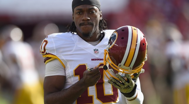 SANTA CLARA, CA - NOVEMBER 23:  Robert Griffin III #10 of the Washington Redskins is seen during pregame against the San Francisco 49ers at Levi's Stadium on November 23, 2014 in Santa Clara, California.  (Photo by Thearon W. Henderson/Getty Images)