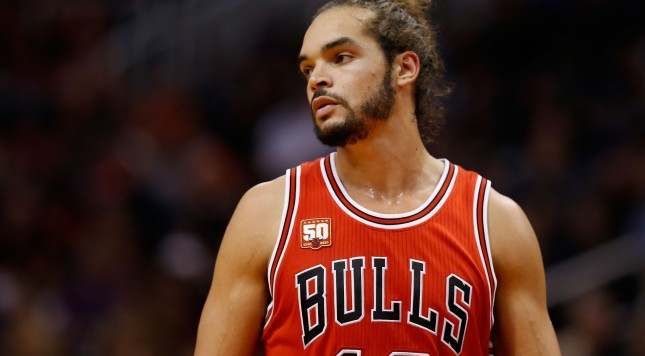 PHOENIX, AZ - NOVEMBER 18:  Joakim Noah #13 of the Chicago Bulls during the NBA game against the Phoenix Suns at Talking Stick Resort Arena on November 18, 2015 in Phoenix, Arizona. The Bulls defeated the Suns 103-97. NOTE TO USER: User expressly acknowledges and agrees that, by downloading and or using this photograph, User is consenting to the terms and conditions of the Getty Images License Agreement.  (Photo by Christian Petersen/Getty Images)