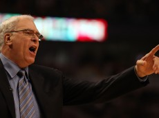 CHICAGO, IL - DECEMBER 10: Head coach Phil Jackson of the Los Angeles Lakers yells at a referee during a game against the Chicago Bulls at the United Center on December 10, 2010 in Chicago, Illinois. NOTE TO USER: User expressly acknowledges and agrees that, by downloading and/or using this photograph, User is consenting to the terms and conditions of the Getty Images License Agreement. (Photo by Jonathan Daniel/Getty Images)