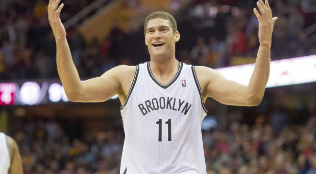 CLEVELAND, OH - OCTOBER 30: Brook Lopez #11 of the Brooklyn Nets reacts during the second half against the Cleveland Cavaliers at Quicken Loans Arena on October 30, 2013 in Cleveland, Ohio. The Cavaliers defeated the Nets 98-94. NOTE TO USER: User expressly acknowledges and agrees that, by downloading and/or using this photograph, user is consenting to the terms and conditions of the Getty Images License Agreement. (Photo by Jason Miller/Getty Images)