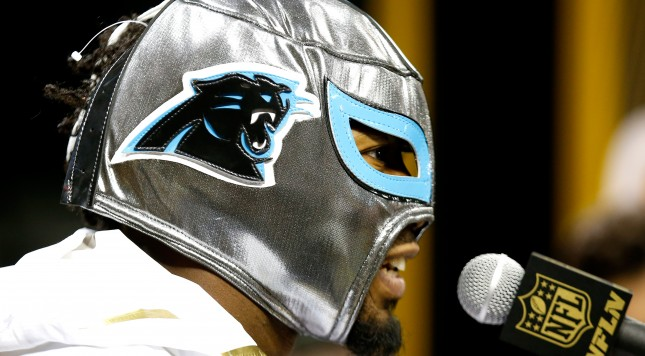SAN JOSE, CA - FEBRUARY 01:  Josh Norman #24 of the Carolina Panthers addresses the media at Super Bowl Opening Night Fueled by Gatorade at SAP Center on February 1, 2016 in San Jose, California.  (Photo by Ezra Shaw/Getty Images)